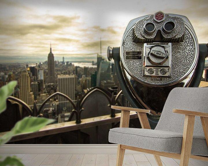Sfeerimpressie behang: Take a look over the city van Fabian Bosman