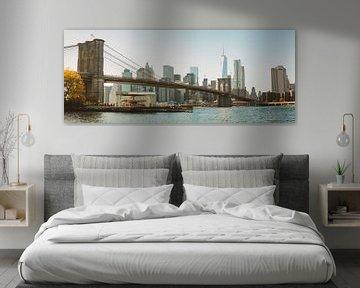 The Brooklyn Bridge + Skyline (Day) van Fabian Bosman
