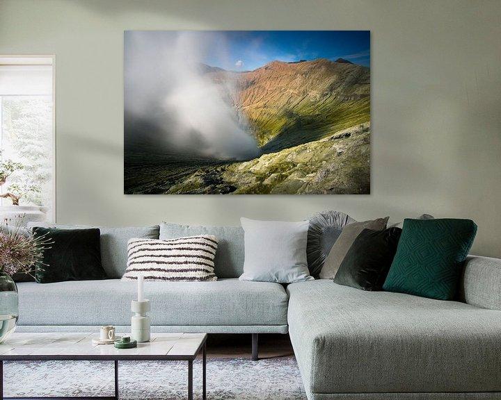 Sfeerimpressie: Krater van de Bromo Vulkaan -  Oost-Java, Indonesië van Martijn Smeets