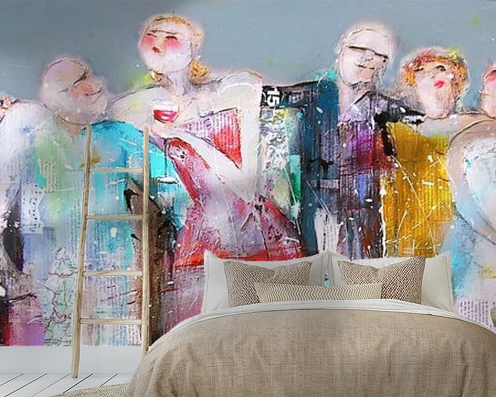 Beispiel fototapete: Party people von Atelier Paint-Ing