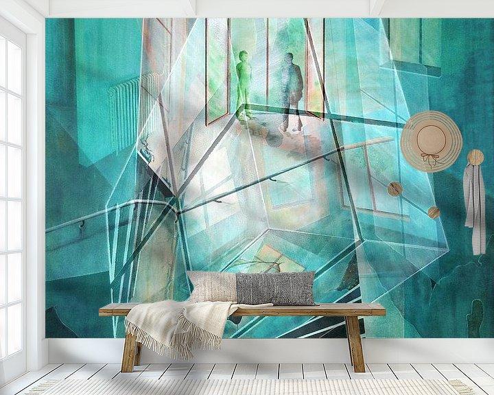 Beispiel fototapete: Cubus im Raum von Gertrud Scheffler