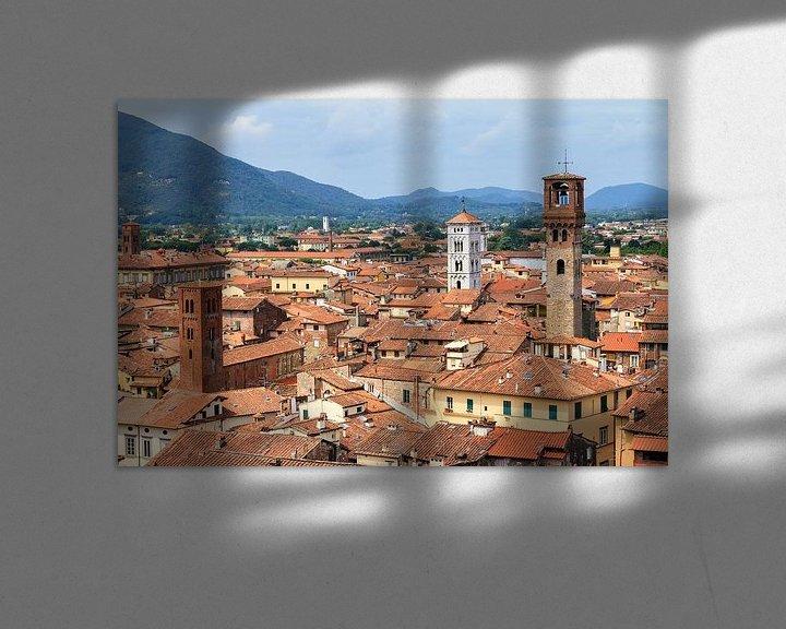 Beispiel: Lucca skyline von Dennis van de Water