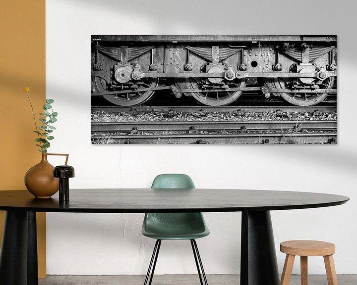 Beispiel: Waggon. Alte Lokomotive. von François Kerremans