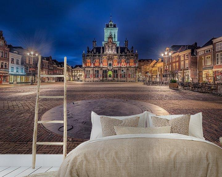 Sfeerimpressie behang: Stadhuis Delft van Michiel Buijse