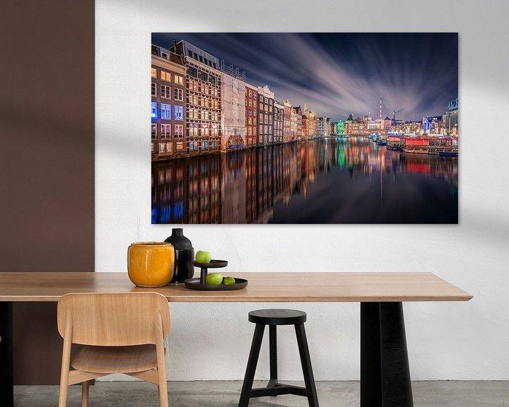 Sfeerimpressie: Damrak Amsterdam van Michiel Buijse
