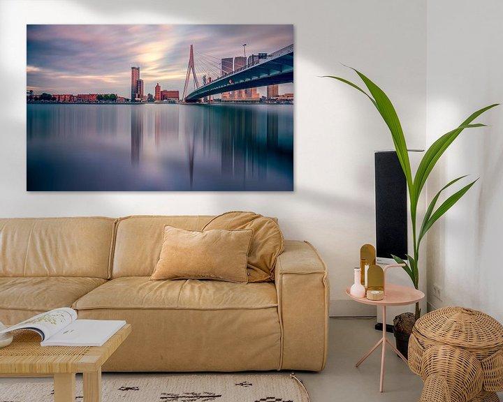 Sfeerimpressie: Skyline Rotterdam van Michiel Buijse