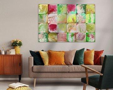 Collage mit gelben und grünen von Rietje Bulthuis