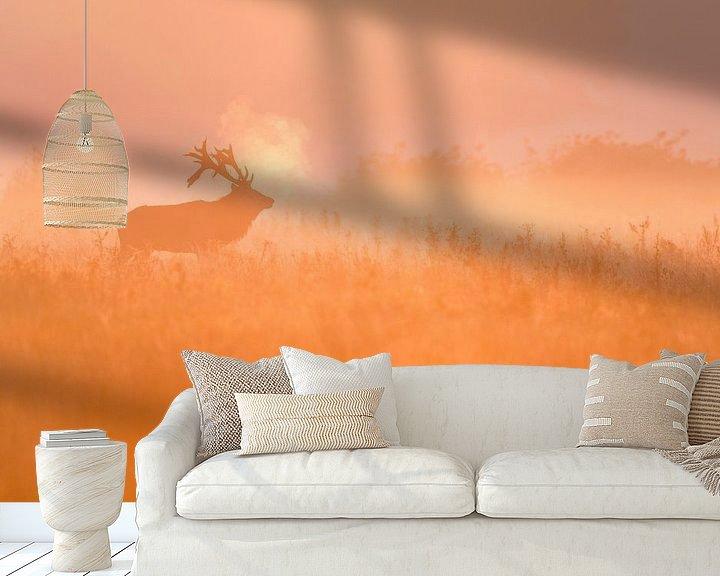 Sfeerimpressie behang: Edelhert van Bob Luijks