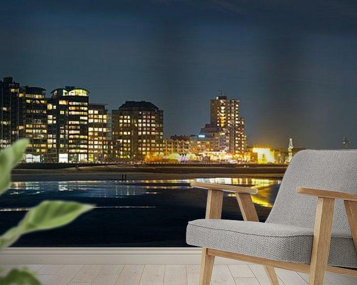 Sfeerimpressie behang: Panorama Skyline Vlissingen van Anton de Zeeuw
