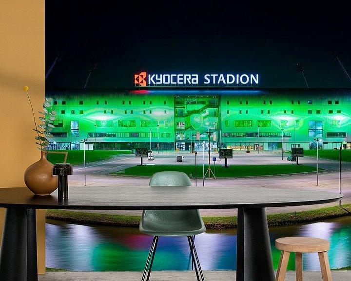 Sfeerimpressie behang: Kyocera Stadion, ADO Den Haag van Anton de Zeeuw
