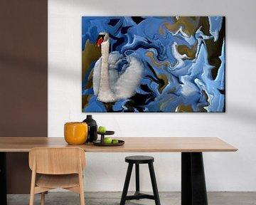 Harmonie in Blau van Heidrun Carola Herrmann