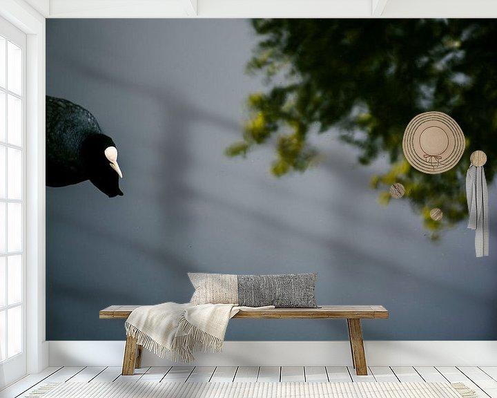 Sfeerimpressie behang: Meerkoet van Godelieve Luijk