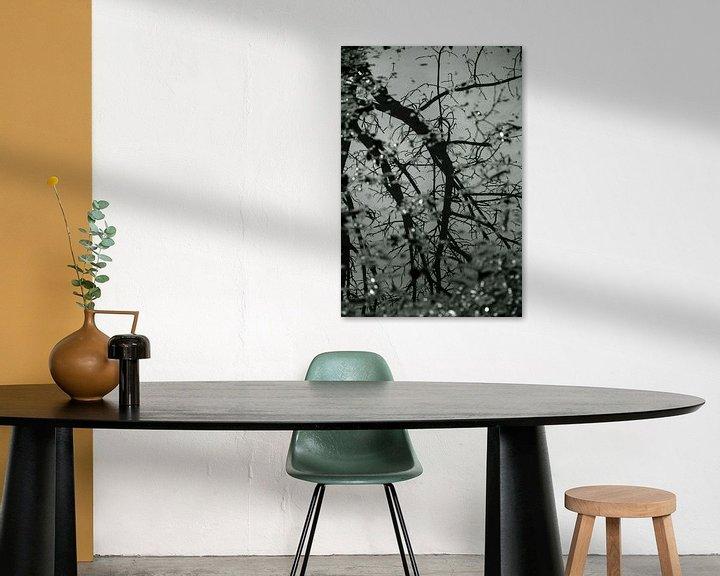 Sfeerimpressie: Weerspiegeling boom en takken in water van Godelieve Luijk