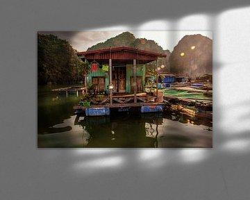 Huis op het water in Vietnam