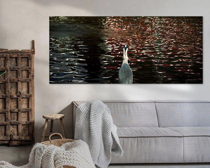 Sfeerimpressie: Reiger aan de waterkant van Godelieve Luijk