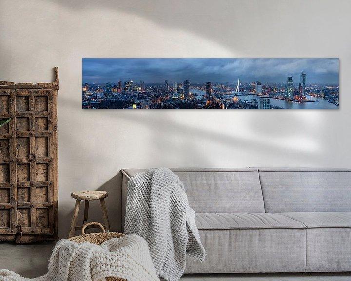 Sfeerimpressie: Rotterdam skyline, Panorama van Hille Bouma