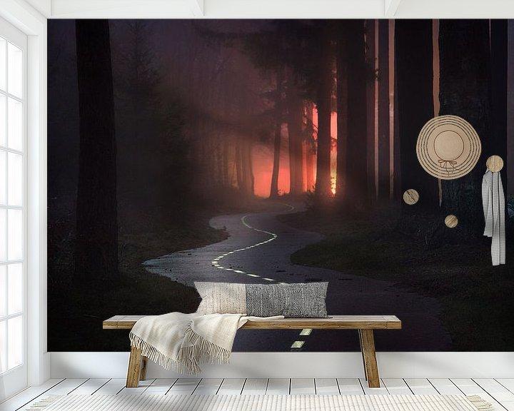 Sfeerimpressie behang: Zig Zag  van Albert Dros