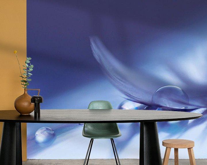 Sfeerimpressie behang: Soft colored drops van Birgitte Bergman