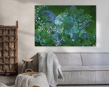 Green bubbles I van Emajeur Fotografie