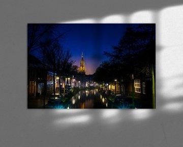 Oosteinde und Nieuwe Kerk in Delft von Ricardo Bouman