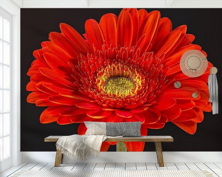 Sfeerimpressie behang: Gerbera van Nicole Jagerman