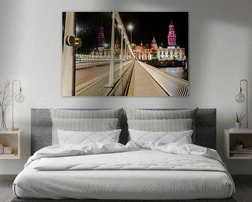 Stadsbrug in Kampen in de avond van Fotografiecor .nl