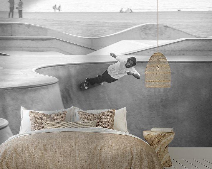 Sfeerimpressie behang: Skateboarding in Venice van Bas Koster