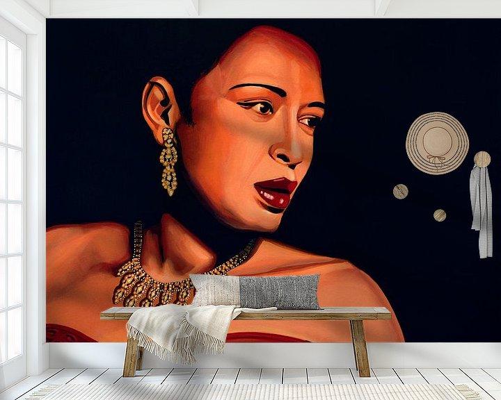 Beispiel fototapete: Billie Holiday painting von Paul Meijering