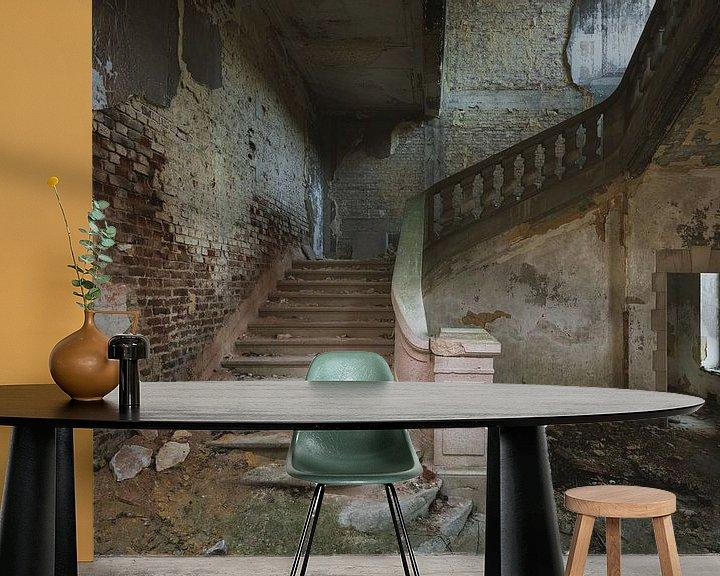 Beispiel fototapete: Die alte Schlosstreppe von Perry Wiertz