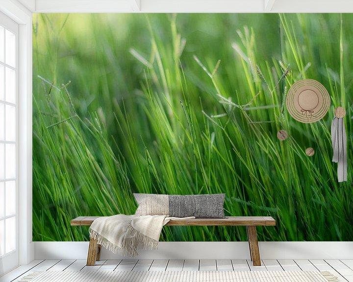 Sfeerimpressie behang: Green, green, grass of home van Herbert Seiffert