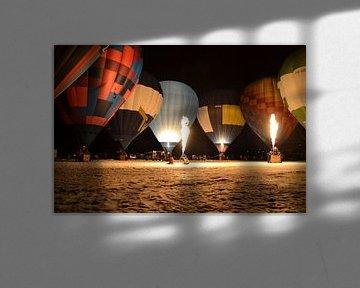 night glow in inzell met hotair-ballonnen van tiny brok