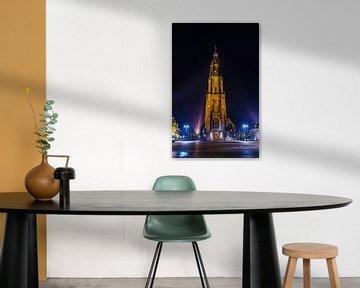 Delft | Nieuwe Kerk bij nacht van Ricardo Bouman