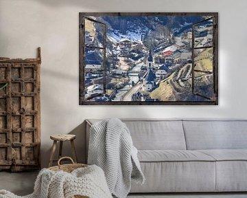 Fensterblick - Ramsau von Christine Nöhmeier