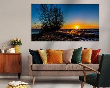 Zonsondergang,  van François Kerremans