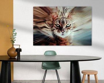 Surreal cat sur Nannie van der Wal