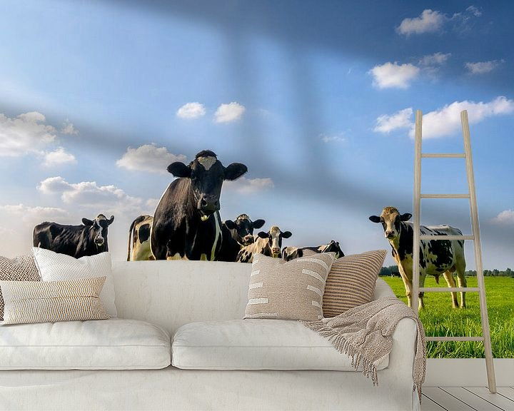 Sfeerimpressie behang: Koeien in de wei van Sjoerd van der Wal