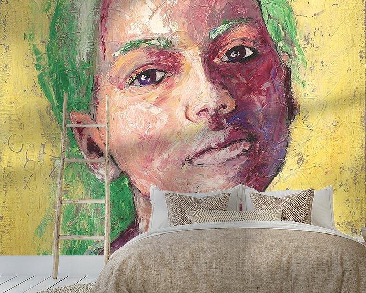 Beispiel fototapete: Bisque O'Ruby - portret van een meisje von Anouk Maria van Deursen