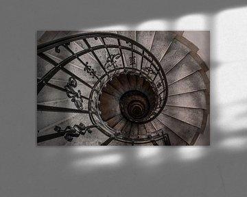 Oude spiraal trap von Lila Lizz