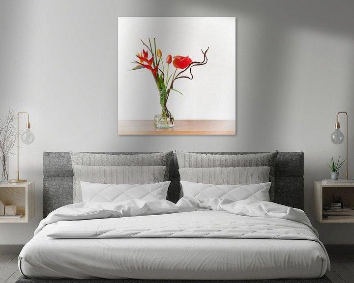 Sfeerimpressie: Oranje Bloemen van Wendy Bos