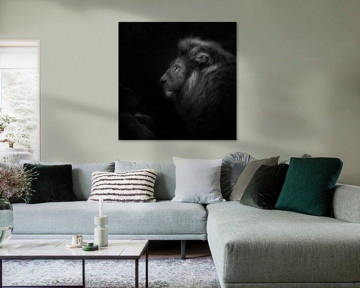 Sfeerimpressie: Royalty, portret van een leeuw van Ruud Peters