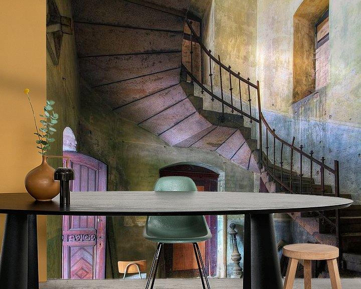 Beispiel fototapete: Treppenhaus Escher von Truus Nijland