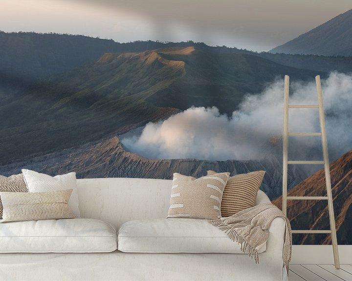 Sfeerimpressie behang: Bromo vulkaan - Java van Blijvanreizen.nl Webshop