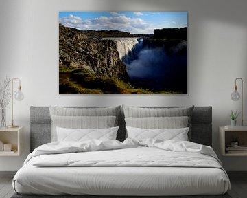 IJsland - Detifoss. van Willem van den Berge