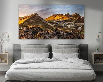 Landmannalaugar - ondergaande zon van Henk Verheyen