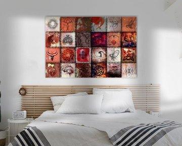 Collage in rot von Rietje Bulthuis