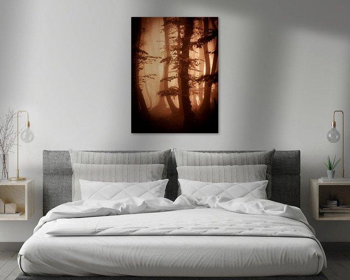 Sfeerimpressie: Herfts in het bos (bruintinten) van Mark Scheper