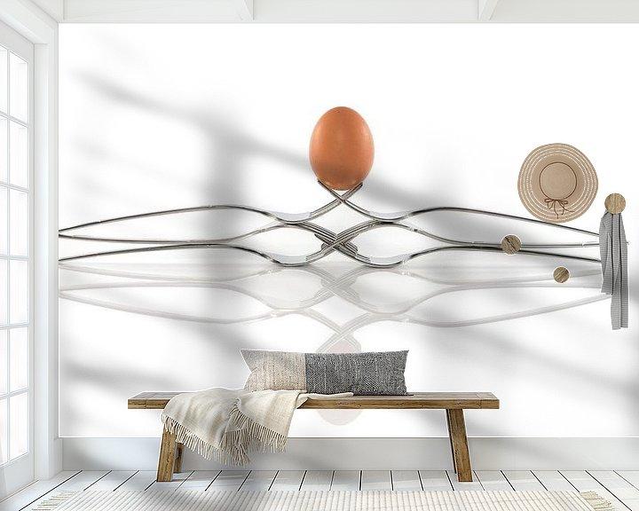 Impression: egg balance on six forks sur Compuinfoto .