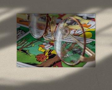 Kinderbril op stripblad van Willy Wortel van Sjaak van Etten