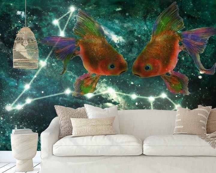 Beispiel fototapete: Tierkreiszeichen - Fische von Christine Nöhmeier