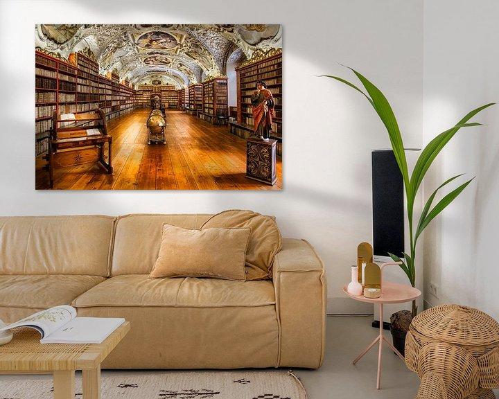 Sfeerimpressie: Bibliotheek van Strahov-Klooster in Praag, Tsjechische Republiek van Roy Poots